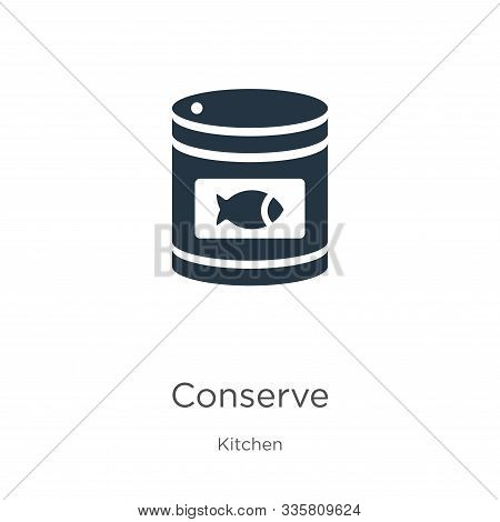 Conserve Icon Vector. Trendy Flat Conserve Icon From Kitchen Collection Isolated On White Background