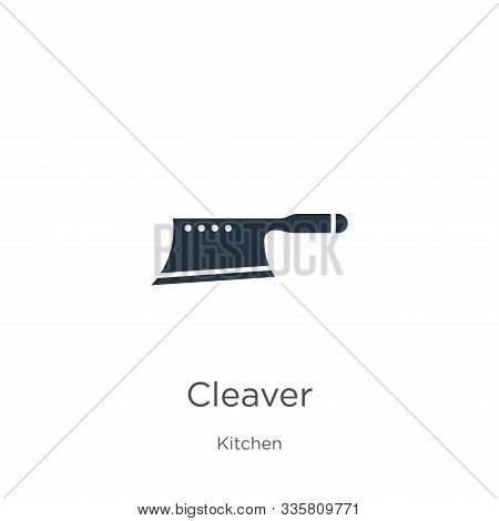 Cleaver Icon Vector. Trendy Flat Cleaver Icon From Kitchen Collection Isolated On White Background.