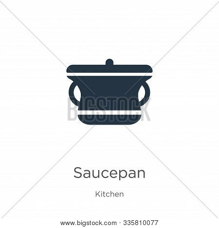Saucepan Icon Vector. Trendy Flat Saucepan Icon From Kitchen Collection Isolated On White Background