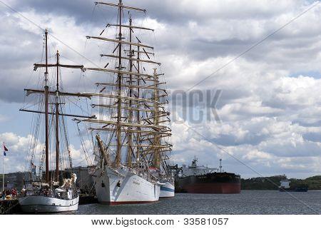 Sailships And Oil tanker