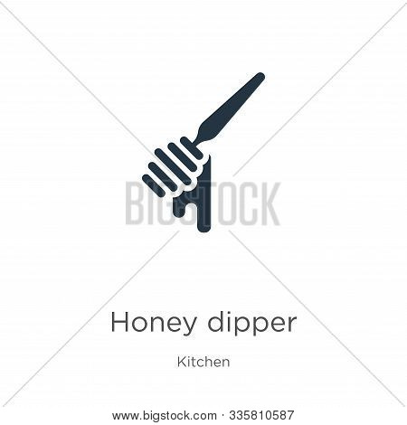 Honey Dipper Icon Vector. Trendy Flat Honey Dipper Icon From Kitchen Collection Isolated On White Ba