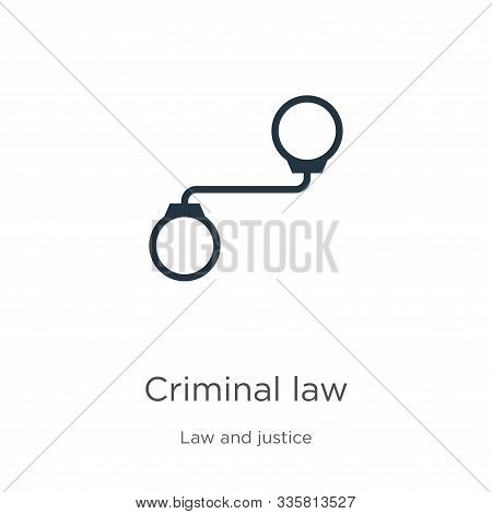 Criminal Law Icon Vector. Trendy Flat Criminal Law Icon From Law And Justice Collection Isolated On
