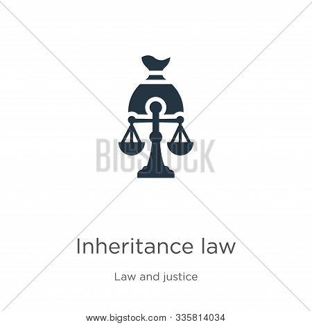 Inheritance Law Icon Vector. Trendy Flat Inheritance Law Icon From Law And Justice Collection Isolat