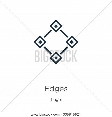 Edges Icon Vector. Trendy Flat Edges Icon From Logo Collection Isolated On White Background. Vector