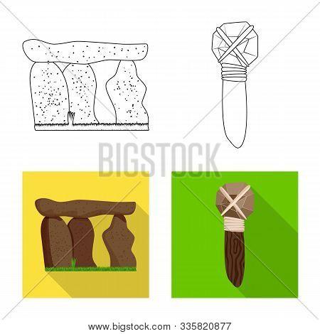 Vector Illustration Of Evolution And Prehistory Sign. Set Of Evolution And Development Stock Symbol