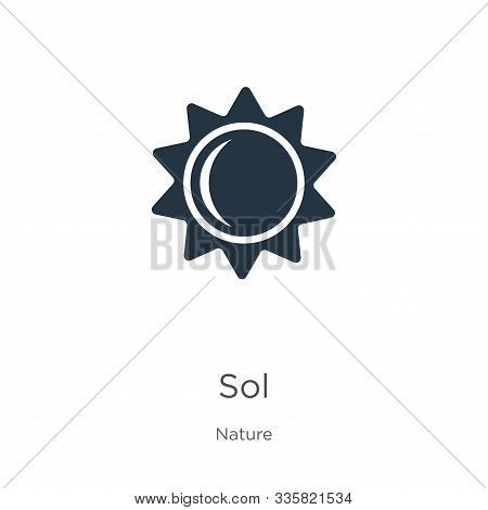 Sol Icon Vector. Trendy Flat Sol Icon From Nature Collection Isolated On White Background. Vector Il