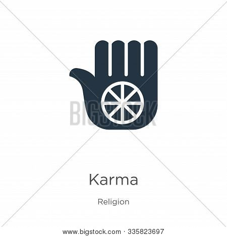Karma Icon Vector. Trendy Flat Karma Icon From Religion Collection Isolated On White Background. Vec