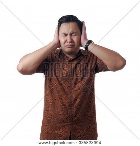 Man Covered His Ears