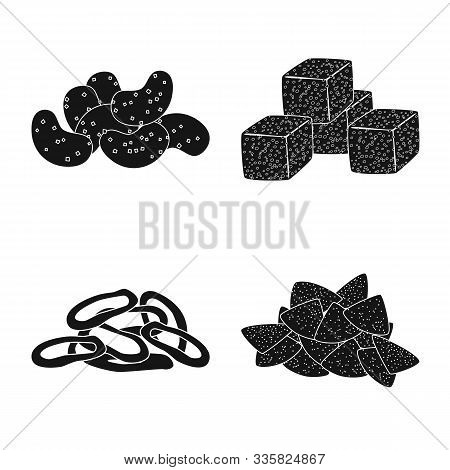 Isolated Object Of Party And Cooking Icon. Set Of Party And Crunchy Stock Symbol For Web.