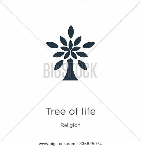 Tree of life icon vector. Trendy flat tree of life icon from religion collection isolated on white background. Vector illustration can be used for web and mobile graphic design, logo, eps10 poster