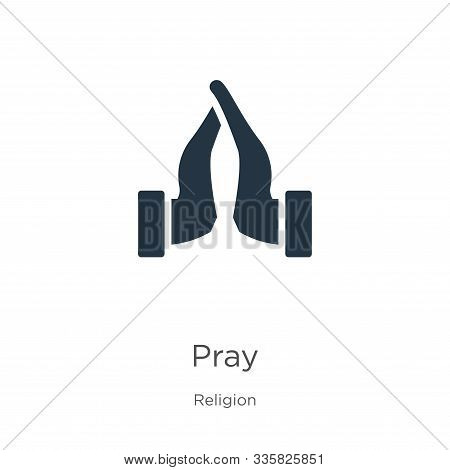 Pray Icon Vector. Trendy Flat Pray Icon From Religion Collection Isolated On White Background. Vecto