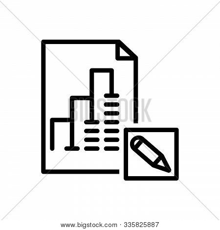 Black Line Icon For Report-editor Report Editor Proofread Blogging Manuscript