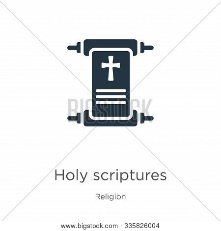 Holy Scriptures Icon Vector. Trendy Flat Holy Scriptures Icon From Religion Collection Isolated On W