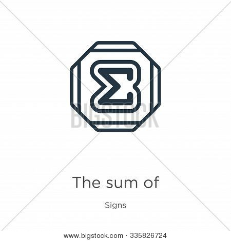 The Sum Of Icon Vector. Trendy Flat The Sum Of Icon From Signs Collection Isolated On White Backgrou