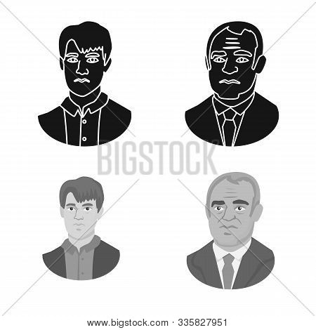 Isolated Object Of Checkmate And Thin Icon. Collection Of Checkmate And Target Vector Icon For Stock