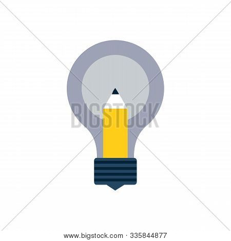 Template Infographic. Business Strategy Plan Concept Idea, Light Bulb With Icons Modern Business And