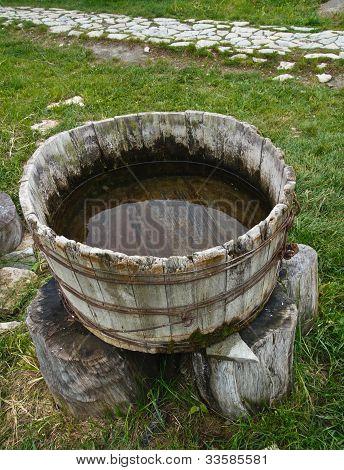 Old Wooden Washtub