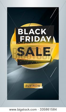 Black Friday Sale. Editable Templates For Social Media Stories. Story Template With Special Offer Ta