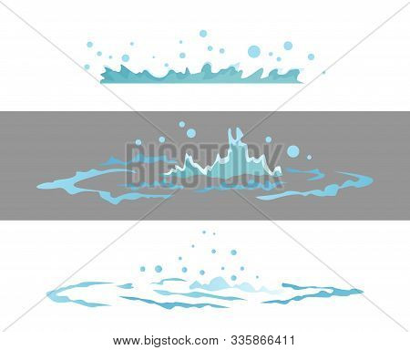 Dripping Water Special Effect Fx Animation Frames Sprite Sheet. Clear Water Drop Burst Frames For Fl