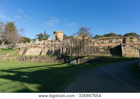 Tasmania, Australia - July 19, 2014: Landscape With Ruins Of Historic Building Of The Penitentiary I
