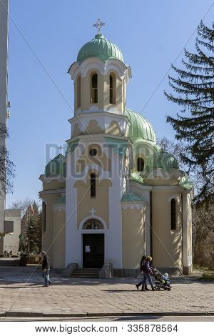 Pernik, Bulgaria - March 12, 2014: Church Of John Of Rila (st. Ivan Rilski) In Town Of Pernik, Bulga