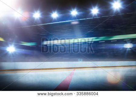 Hockey Stadium With Spectators And An Empty Ice Rink Sport Arena