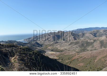Marin Headlands Ariel View From Hawk Hill Overlook
