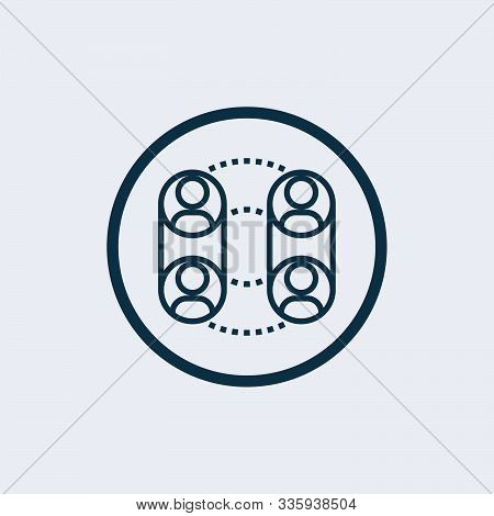 Social Relations Vector Icon On White Background. Social Relations Icon In Modern Design Style. Soci