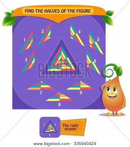 Find The  Shape Halves  Logic Triangle