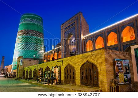 Khiva, Uzbekistan - May 2, 2019: Historic Architecture Of Itchan Kala, Walled Inner Town Of The City