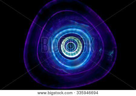 Sound Waves In The Dark In Violet Color