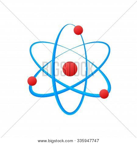 Atom Icon Vector, Atom Symbols On White Background.