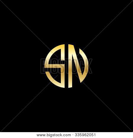 Letter Sn Logo Vector, Logo Initial Sn Design Graphic, Letter Sn Logo Icon Design Template Elements.