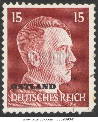 Saint Petersburg, Russia - November 25, 2019: Postage Stamp Issued In Germany With A Portrait Of Naz