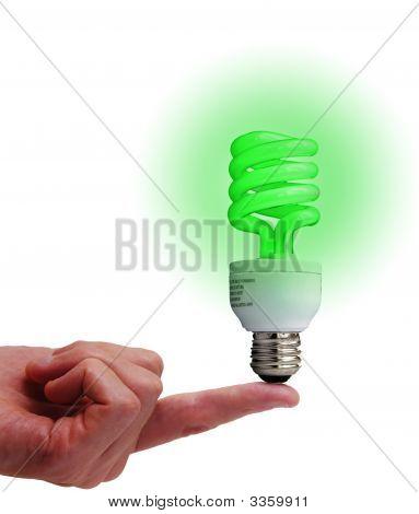 Balancing Bulb Green
