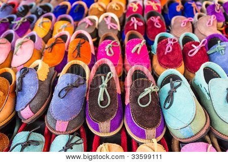 Children's shoes. In the market, bangkok thailand poster