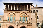 Beautiful old Episcopal Palace facade in Murcia poster