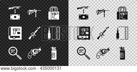 Set Buying Assault Rifle, Submachine Gun M3, Pistol, Pistol Or Search, Small Revolver, Weapons Oil B