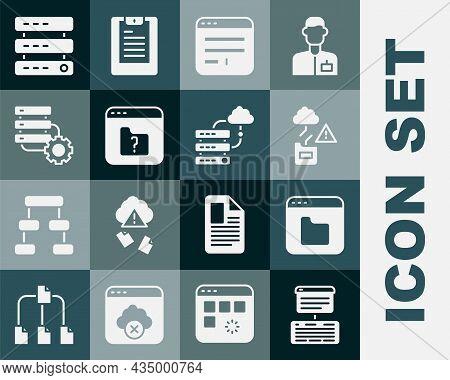 Set Server, Data, Web Hosting, Browser Files, Cloud Technology Data Transfer, Window, File Missing,