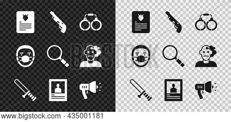 Set The Arrest Warrant, Police Shotgun, Handcuffs, Rubber Baton, Wanted Poster, Megaphone, Doctor Pa