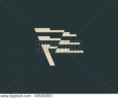 Abstract Waving Flag In Minimalistic Style Logo Concept. Universal Pointer, Success, Finish Vector E