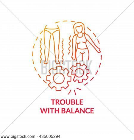 Trouble With Balance Concept Icon. Hypertension Symptom Abstract Idea Thin Line Illustration. Poor C