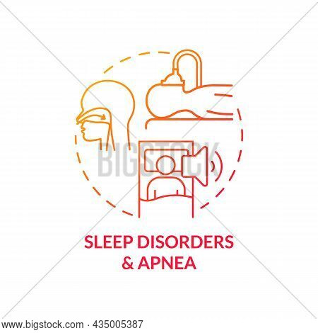 Sleep Disorders And Apnea Concept Icon. Hypertension Cause Abstract Idea Thin Line Illustration. Dif