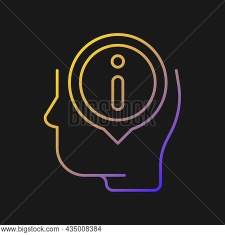 Staying Well Informed Vector Icon For Dark Theme. Obtain Extensive Information And Facts. Knowledgea