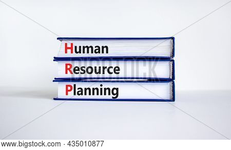 Hrp, Human Resource Planning Symbol. Words Hrp, Human Resource Planning Symbol On Books On A Beautif