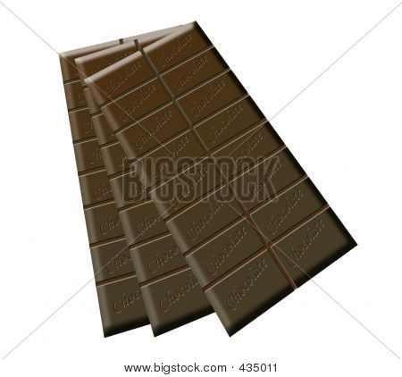 Three Bars Of Chocolate
