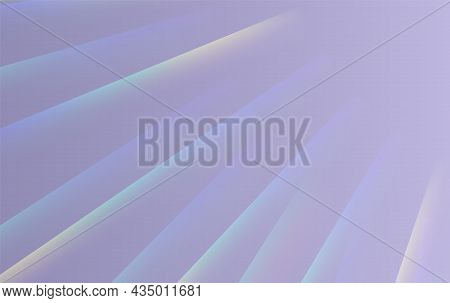 Refraction Effect, Wall With Rainbow Sunlight, Holographic Rays With Transparency. Blurred Overlay T