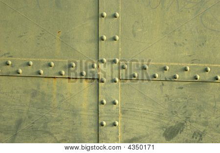 Riveted Green Steel Plates