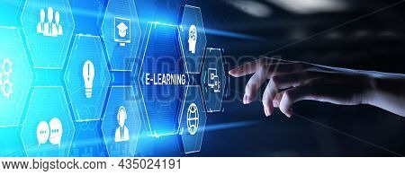 E-learning Edtech Education Technology Elearning Online Learning Internet Technology Concept