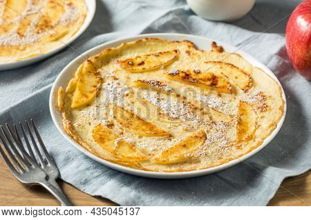 Stack Of Delicious Sweet And Spicy Apple Pancakes.